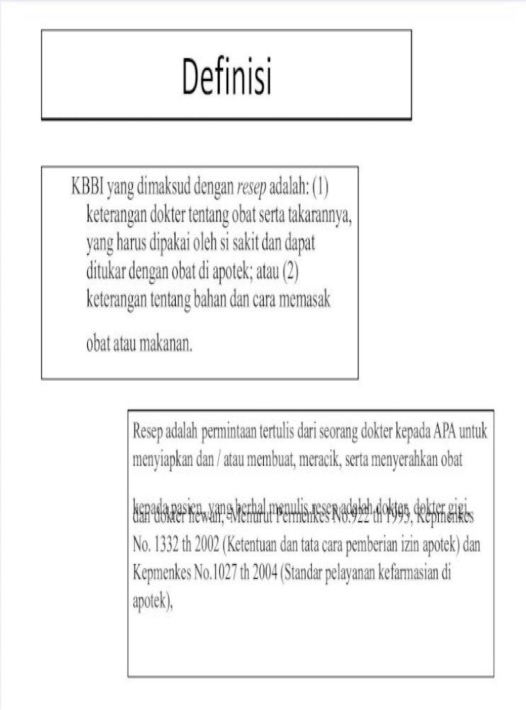 Pengkajian Resep Frs Pdf Document