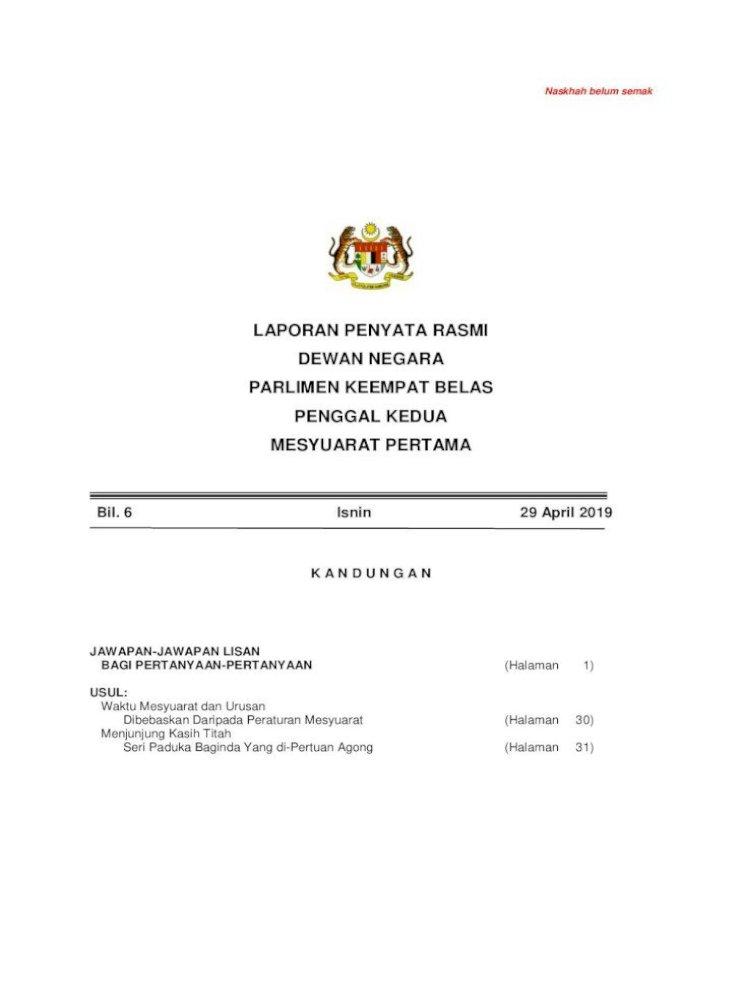 Tata Tertib Contoh Surat Representasi Tatatertib