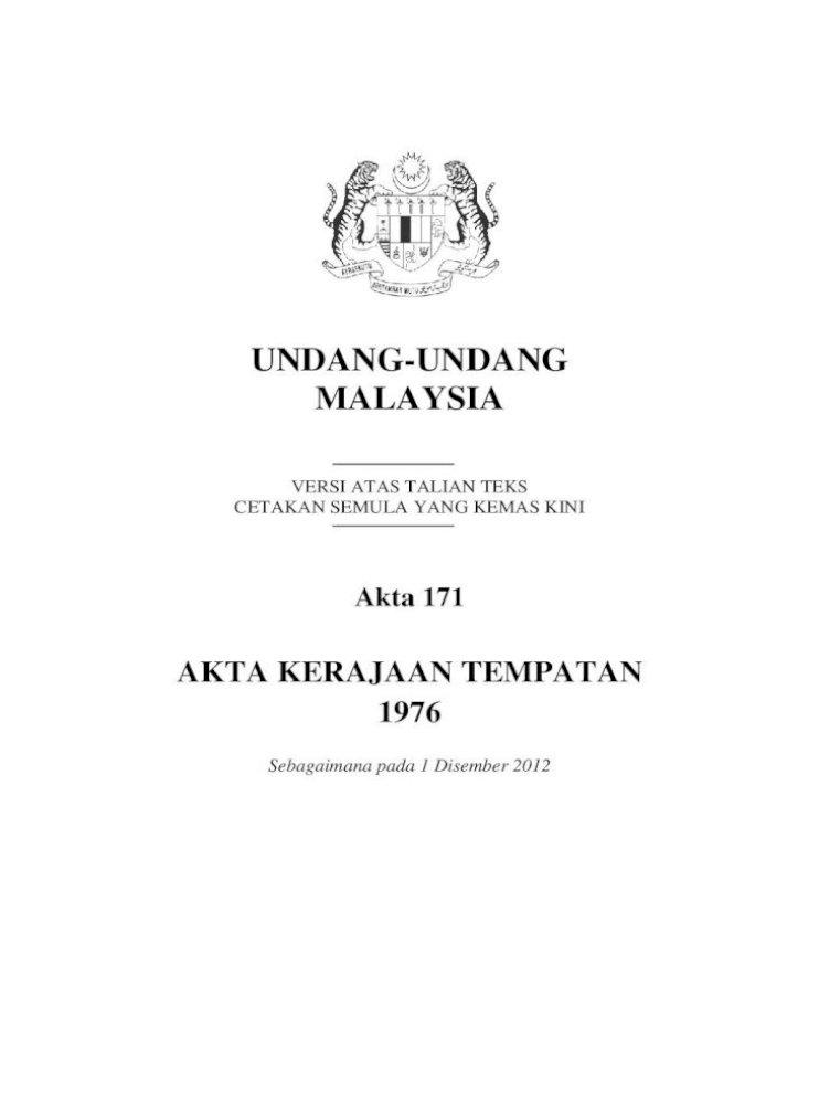 Undang Undang Malaysia Pengecualian Anggota Majlis Dsb