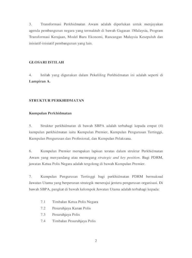 Jawatan Tertinggi Dalam Perkhidmatan Awam Malaysia