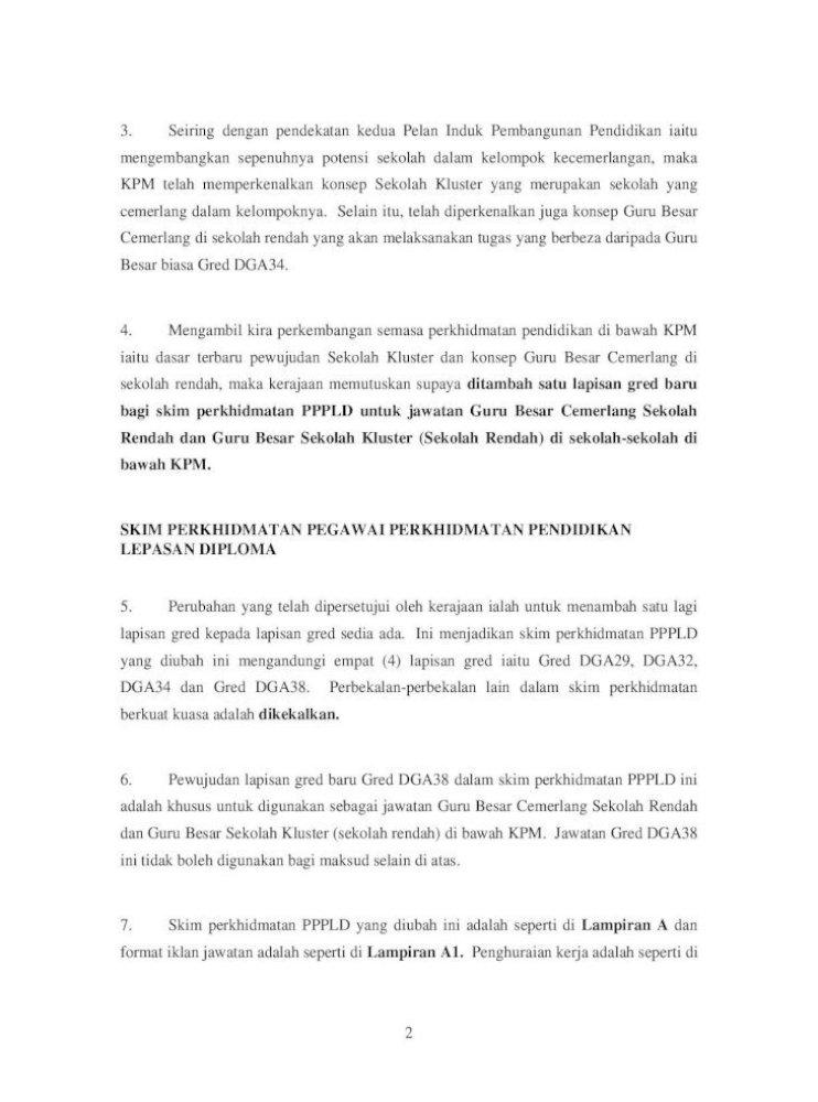 Pekeliling Perkhidmatan Bilangan 11 Tahun 2007 2 Jadual Gaji Gred Dga29 P1t1 Rm1405 71 P1t23 Pdf Document