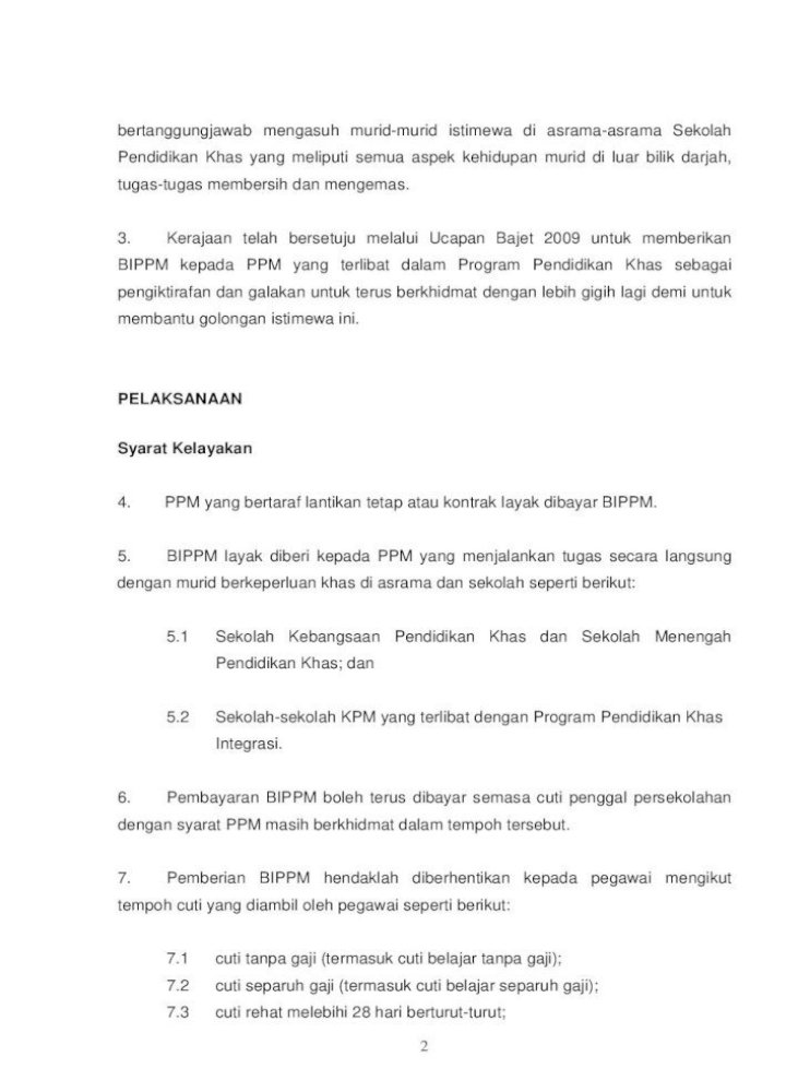 Surat Pekeliling Perkhidmatan Kementerian 7 11 Cuti Belajar Bergaji Penuh Kerana Berkursus Melebihi Pdf Document