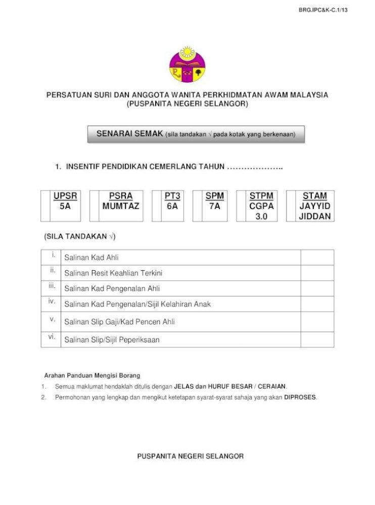 1 Insentif Pendidikan Cemerlang 3 Pengesahan Salinan Dokumen Hendaklah Disahkan Oleh Pegawai Kumpulan Pdf Document