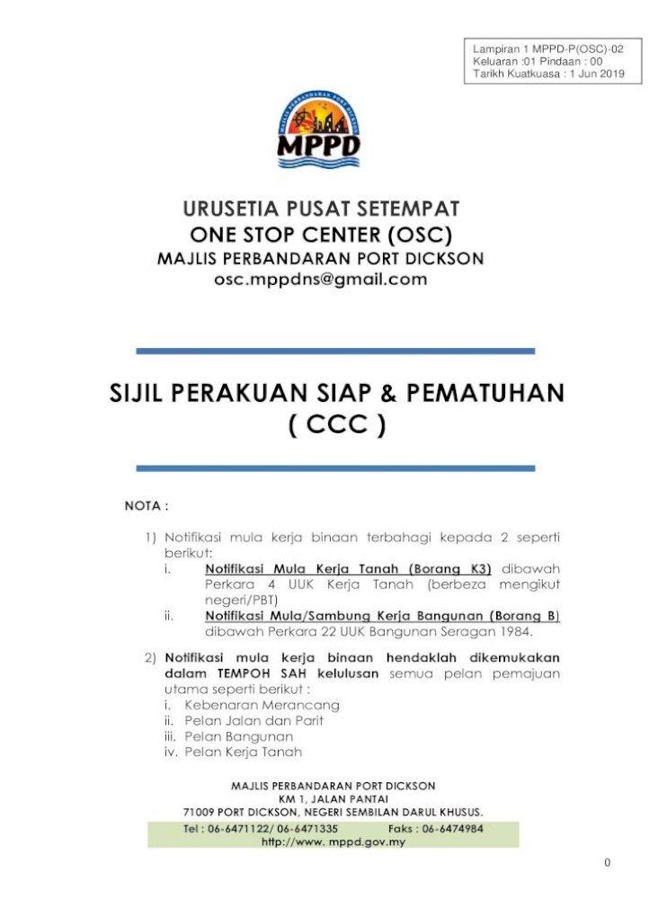 Urusetia Pusat Setempat One Stop Center Osc Pencawang Diserahkan Kepada Tnb Setelah Siap Pembinaan Pdf Document