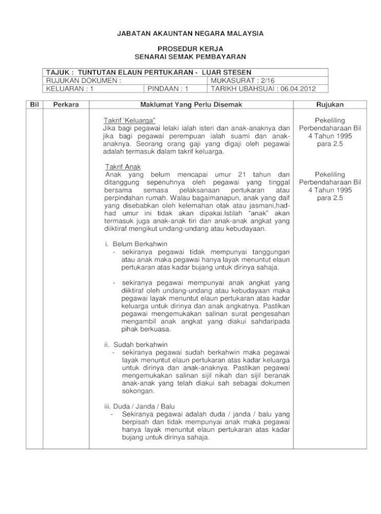 Jabatan Akauntan Negara Lazim Unit 4 Tahun 1995 Para 3 1 6 Jabatan Akauntan Negara Malaysia Prosedur Pdf Document