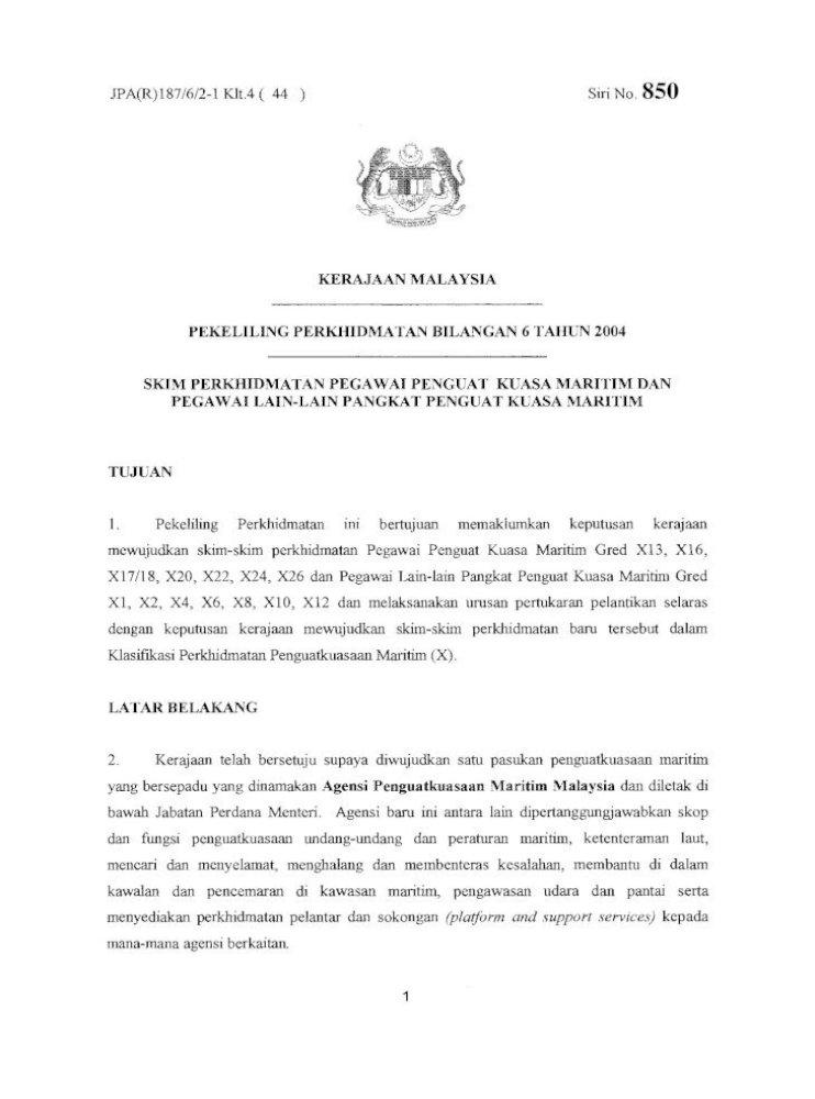 Pekeliling Perkhidmatan Bilangan 6 Tahun Pekeliling Perkhidmatan Bilangan 6 Tahun 2004 Skim Perkhidmatan Pdf Document